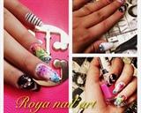 colorful nail design
