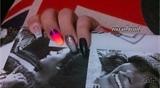 hand paint nail art
