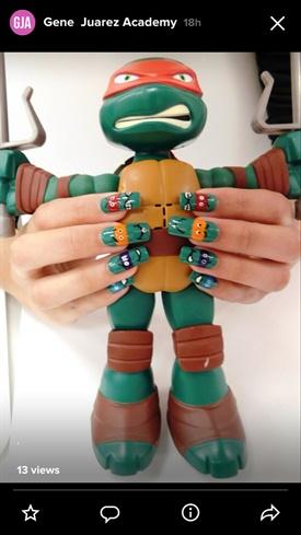 Ninja turtle Runway Nails