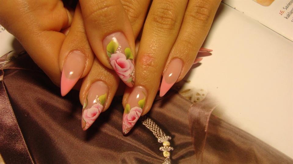 Pink Pointy Nails Nail Art Gallery