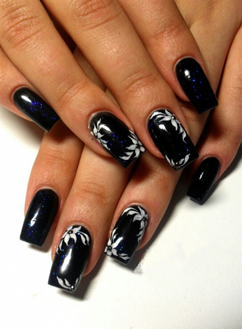 dark blue - black - Nail Art Gallery