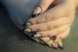 Black Glitter Opal 3D