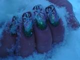 winter glitter nail art design