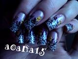 Flower bud nail art design