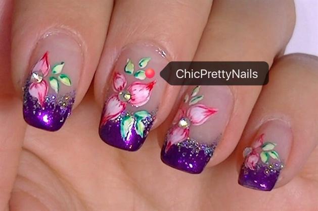 Floral Nail Art Design Nail Art Gallery