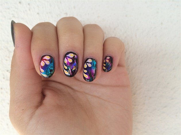 Colorful Foil Nail Art