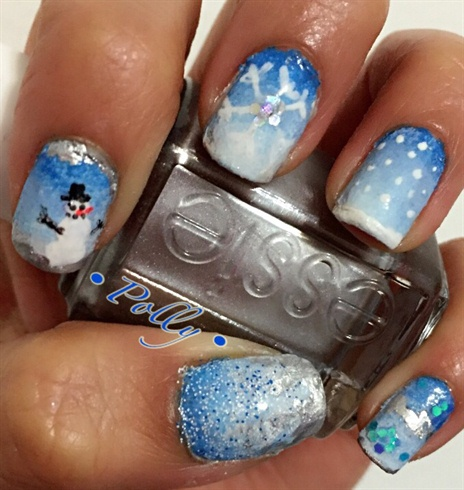 DIY Frozen Inspired Nails