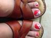 Zebra on my toes
