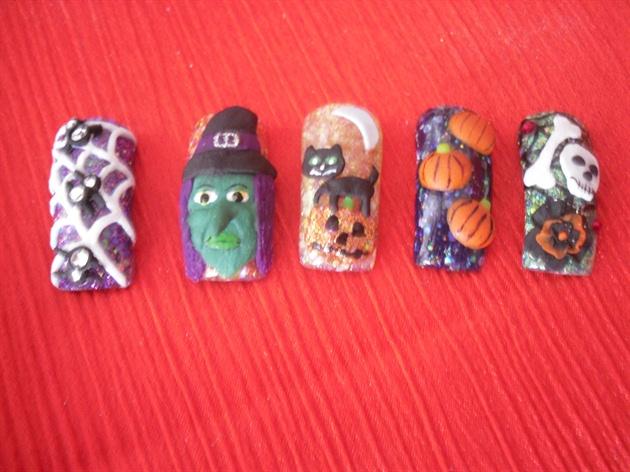 Halloween 3d Ftd Nails Magazine Nail Art Gallery