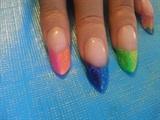 my coloful edge nails