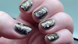Shadow Damask Nail Art