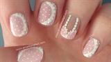 Lacy Pink Bra Nail Art