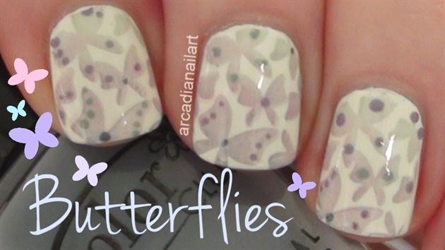 Fading Butterflies Stamping Nail Art Tut
