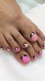 pedicure ,pink ^_*