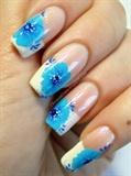 One-Stroke Blue Flowers
