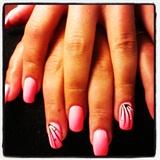 roze neon -stripes