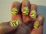 yellow with black stripes