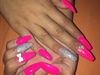 Hot Pink Coffin Nails