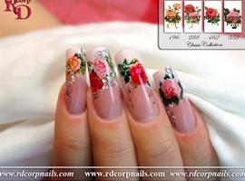 nail art: Bridal Rose Garden