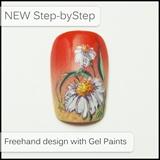 Gel Painted Daisies
