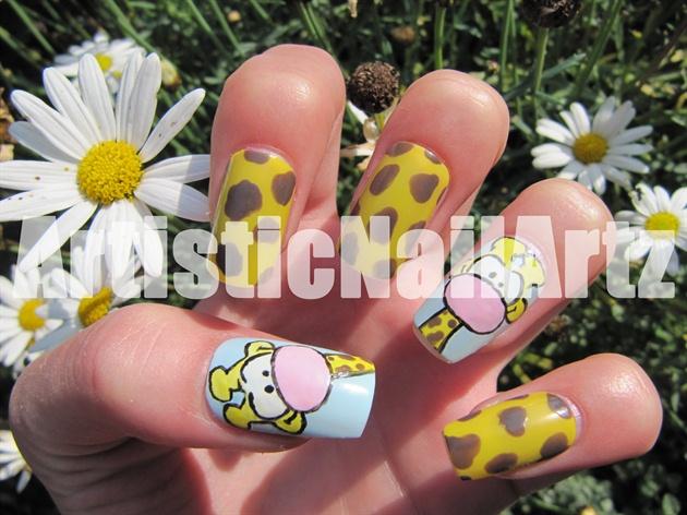 Giraffe Nails Nail Art Gallery