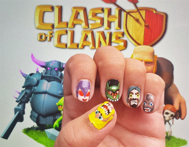 Game Nail Art design - Nail Art Gallery