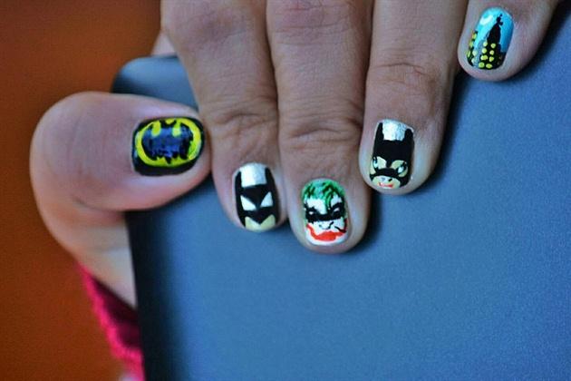 Batman Nail art!