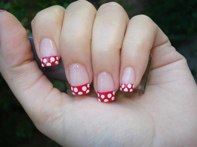 "Gel nails ""Mini Mouse"""