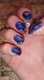 Blue with Black design