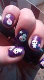 Girly Halloween Skulls Manicure