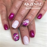 Pink Sparkles and Flowers