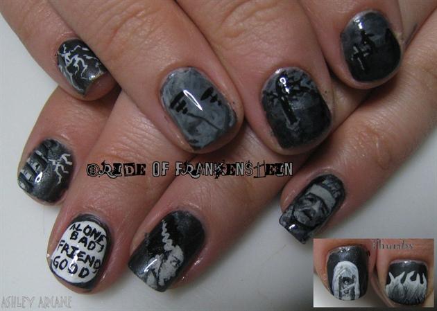 Bride Of Frankenstein Nail Art Gallery
