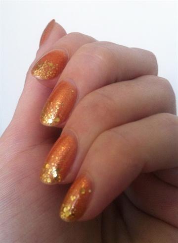Orange and gold glitter gradient