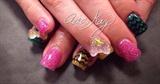 Hard Gel Glitter Nails