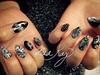 Geometric Gothic Nails