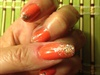 Glitter fade orange