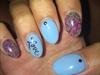 Blue Love Nails