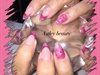 Glitter Acrylic Stiletto Nails