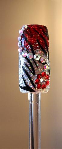 Red & silver glitter