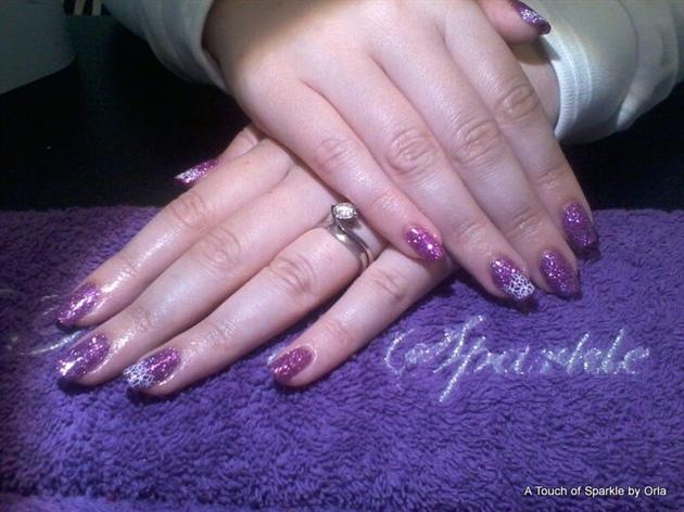 2 Week glitter manicure