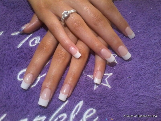 sculpted gel nails