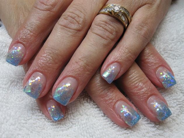 Light Blue Short Nails Nail Art Gallery