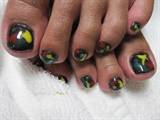 REGGAE NAILS GEL TOES