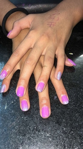 Pink Holographic Tips