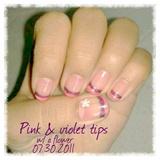Pink & Violet tips