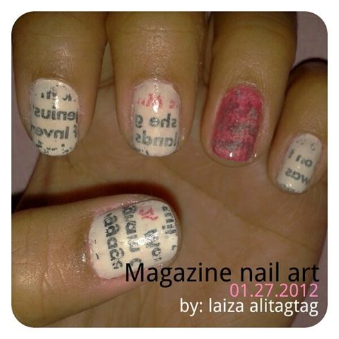magazine nail art