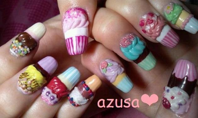 Cupcakes nail art gallery cupcakes prinsesfo Gallery