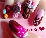chocolate nail❤