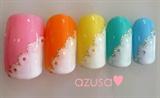 colorful wavy nail❤