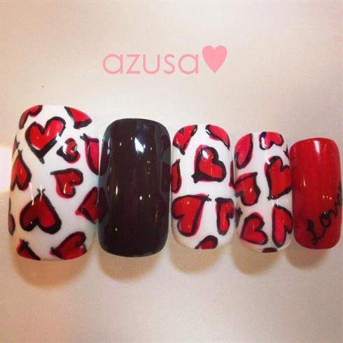 cool hearts nail❤
